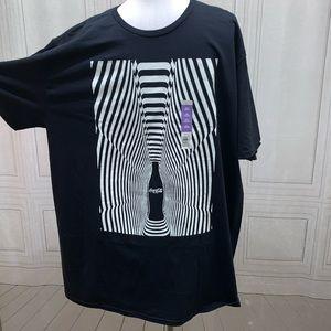 Coca-Cola Black T-shirt 2x (50-52) NWT